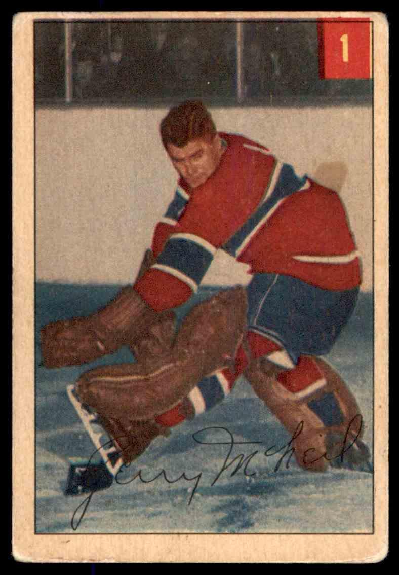 1954-55 Parkhurst Gerry McNeil #1 card front image