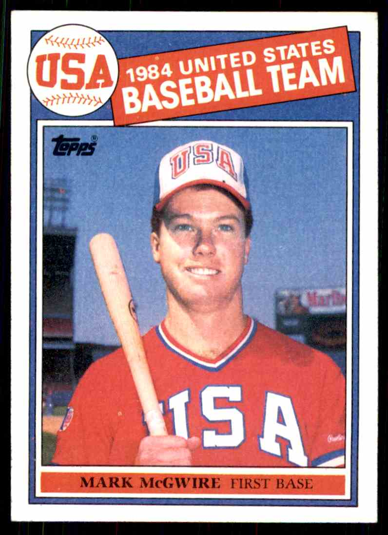 1985 Topps Mark McGwire #401 card front image