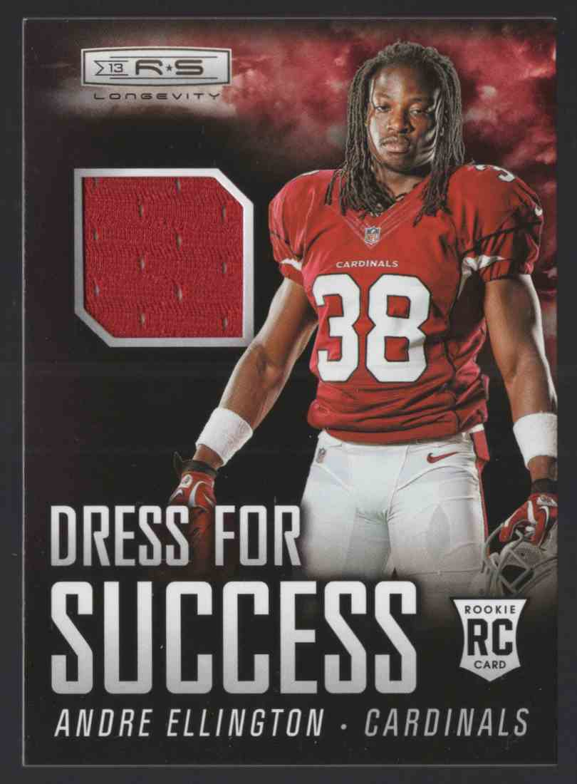 2013 Rookies And Stars Longevity Dress For Success Jerseys Andre Ellington #2 card front image