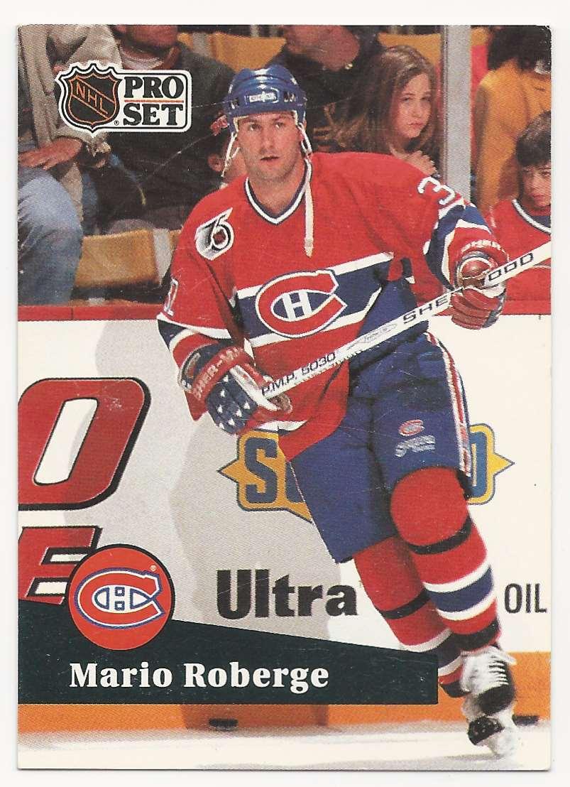 1991-92 Pro Set Mario Roberge #415 card front image