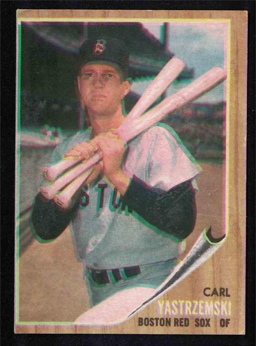 1962 Topps Carl Yastrzemski EX Print Error Blurry Front #425 card front image