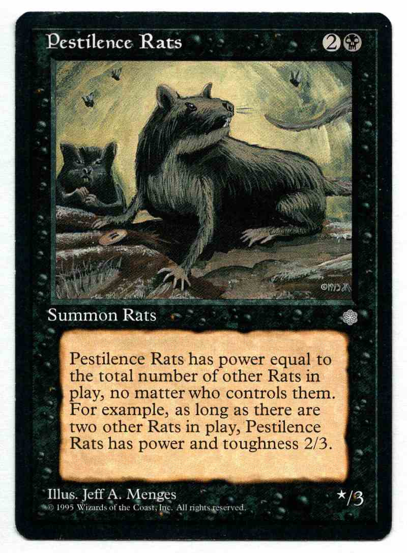 1995 Ice Age Pestilence Rats card front image