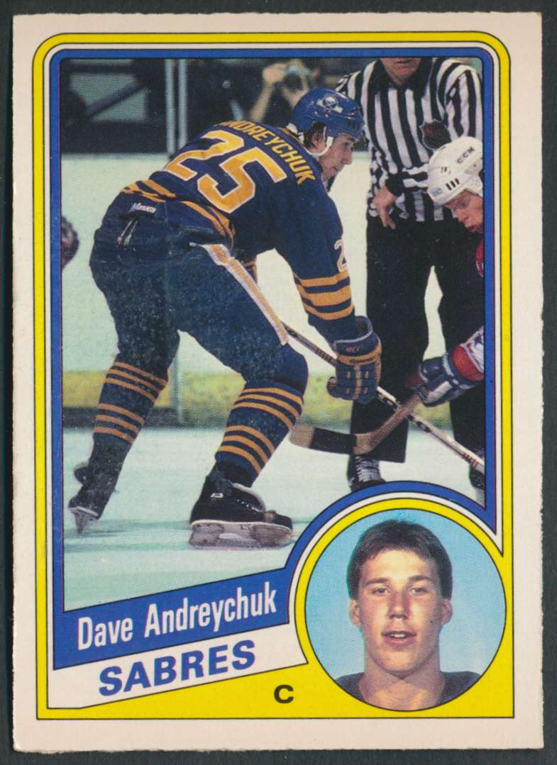 1984-85 OPC Dave Andreychuk #17 card front image