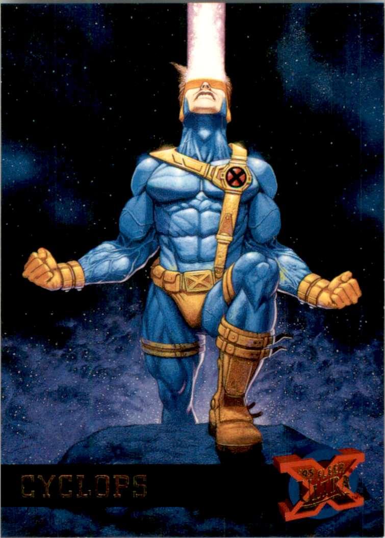 1995 X-Men Ultra Cyclops #14 card front image
