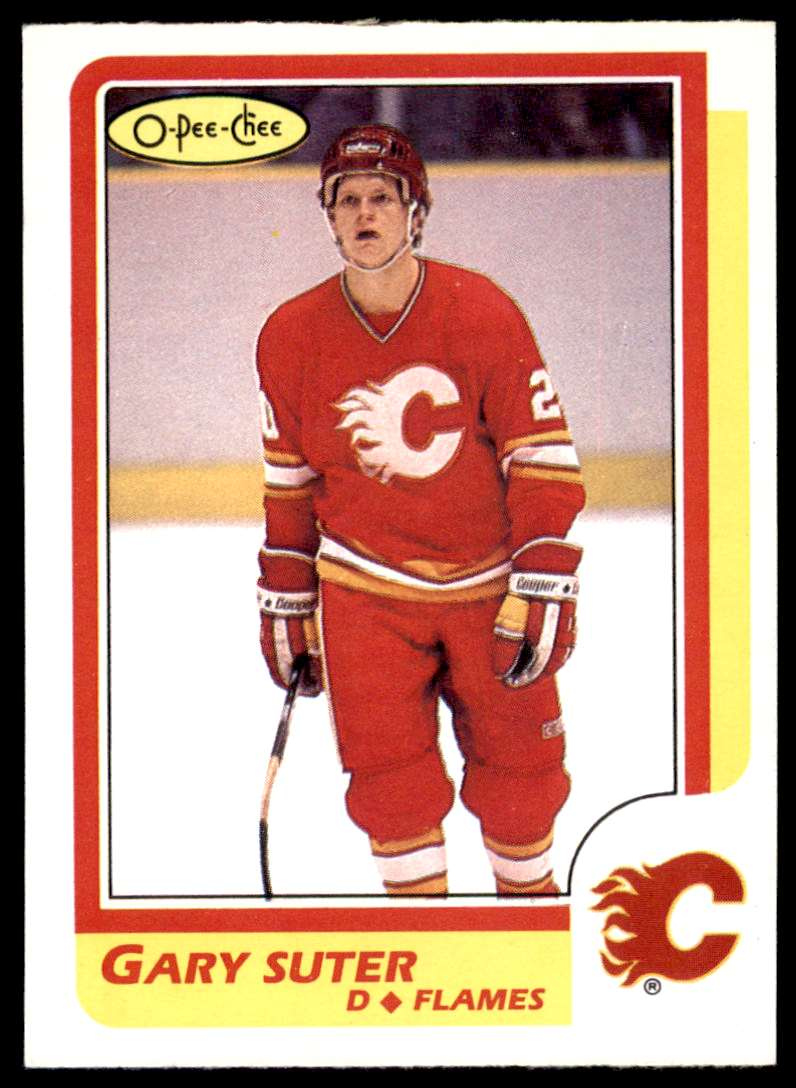 1986-87 OPC Gary Suter #189 card front image