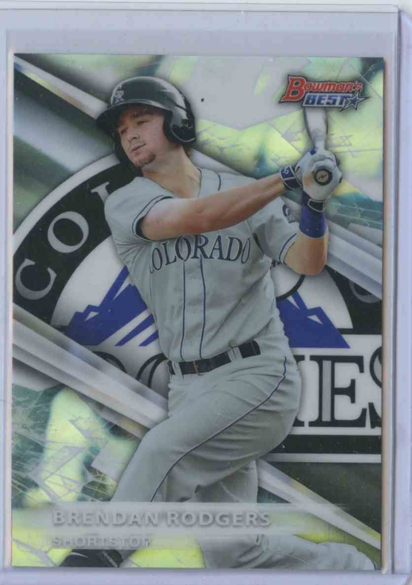 2016 Bowman's Best Refractor Brendan Rodgers #TP2 card front image