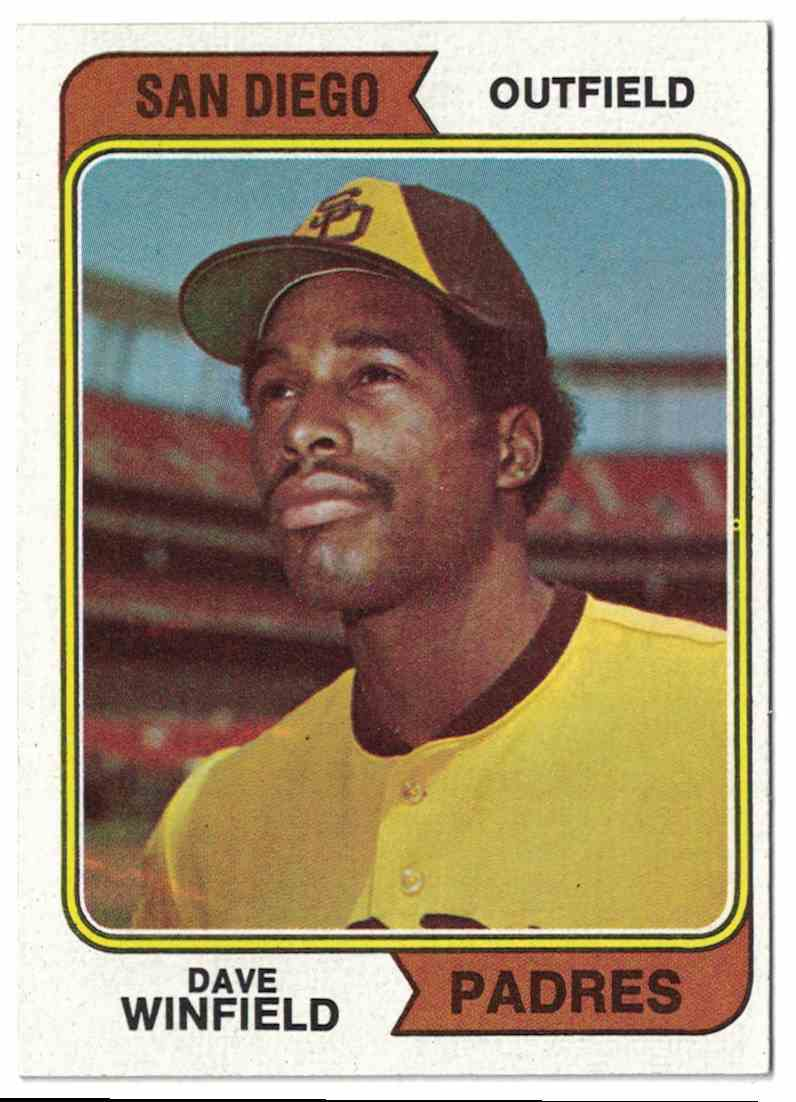1974 Topps Dave Winfield NM-MT #456 card front image