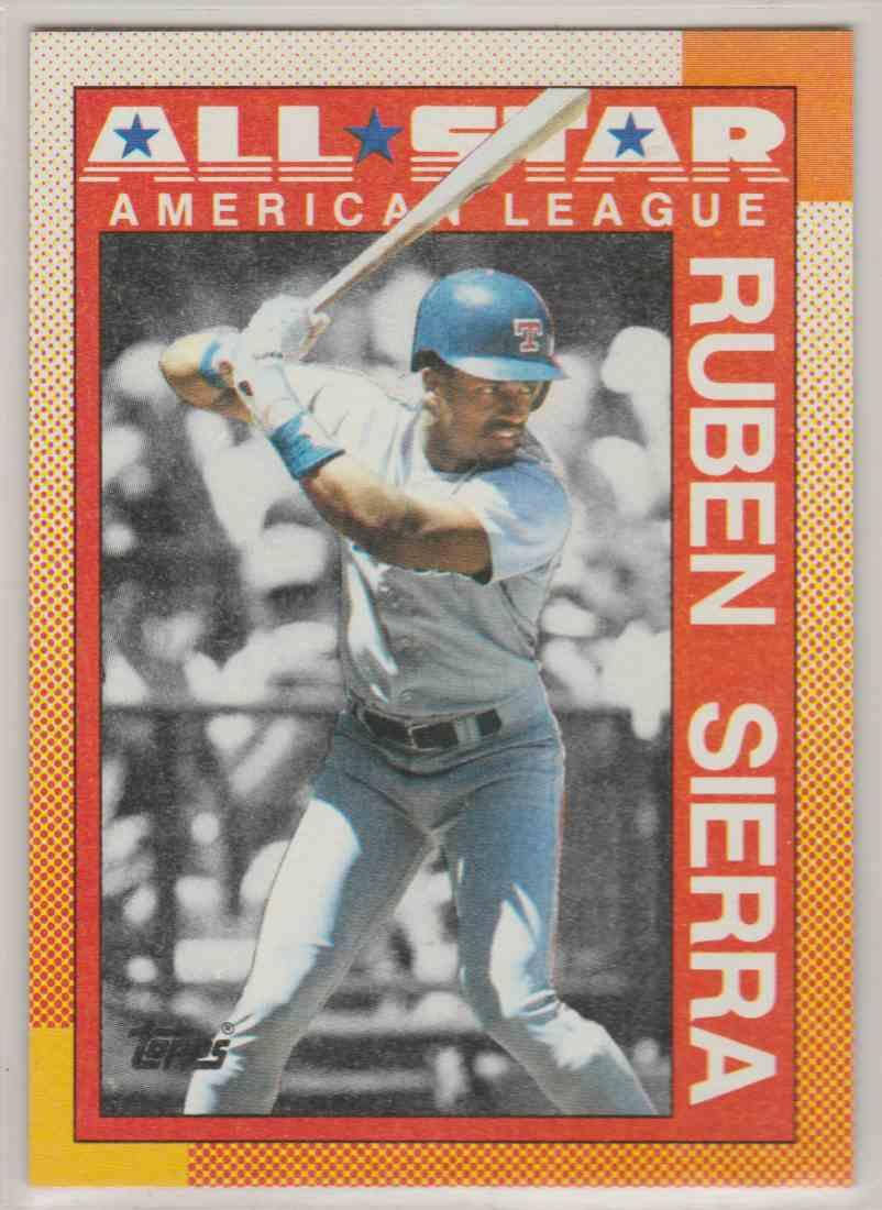 1990 Topps All-Star Ruben Sierra #390 card front image