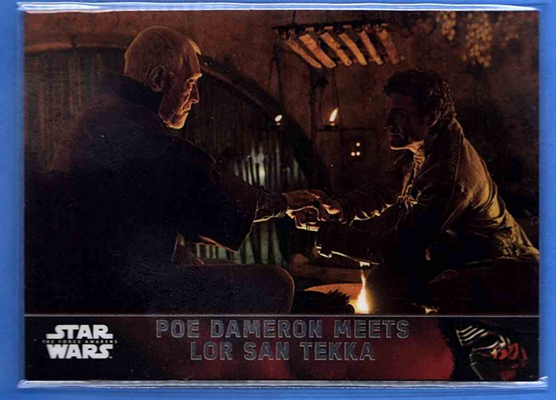 2016 Star Wars The Force Awakens Chrome Poe Dameron Meets Lors San Tekka #2 card front image