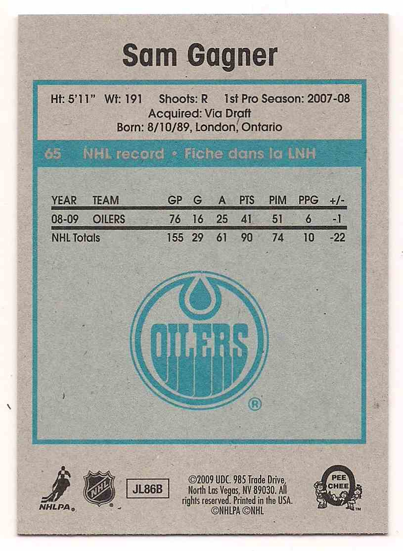2009-10 0-Pee-Chee Retro Sam Gagner #65 card back image