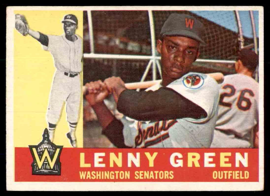 1960 Topps Lenny Green #99 card front image