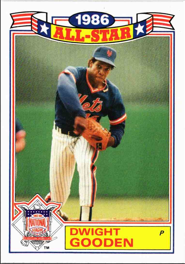 1987 Topps 1986 All Star Game Dwight Gooden 10 On