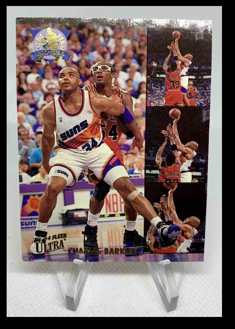 1993-94 Fleer Ultra Charles Barkley 1st Team All-NBA #1 card front image