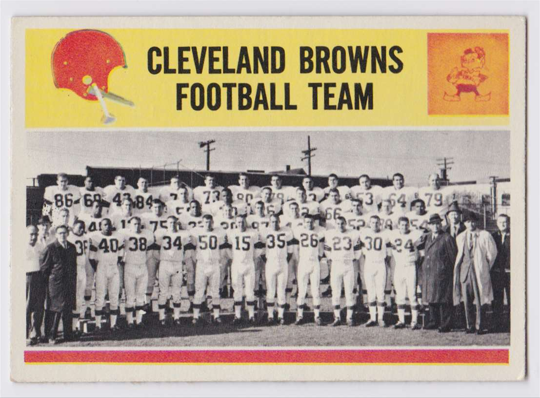 1964 Pcgc Browns Team #41 card front image