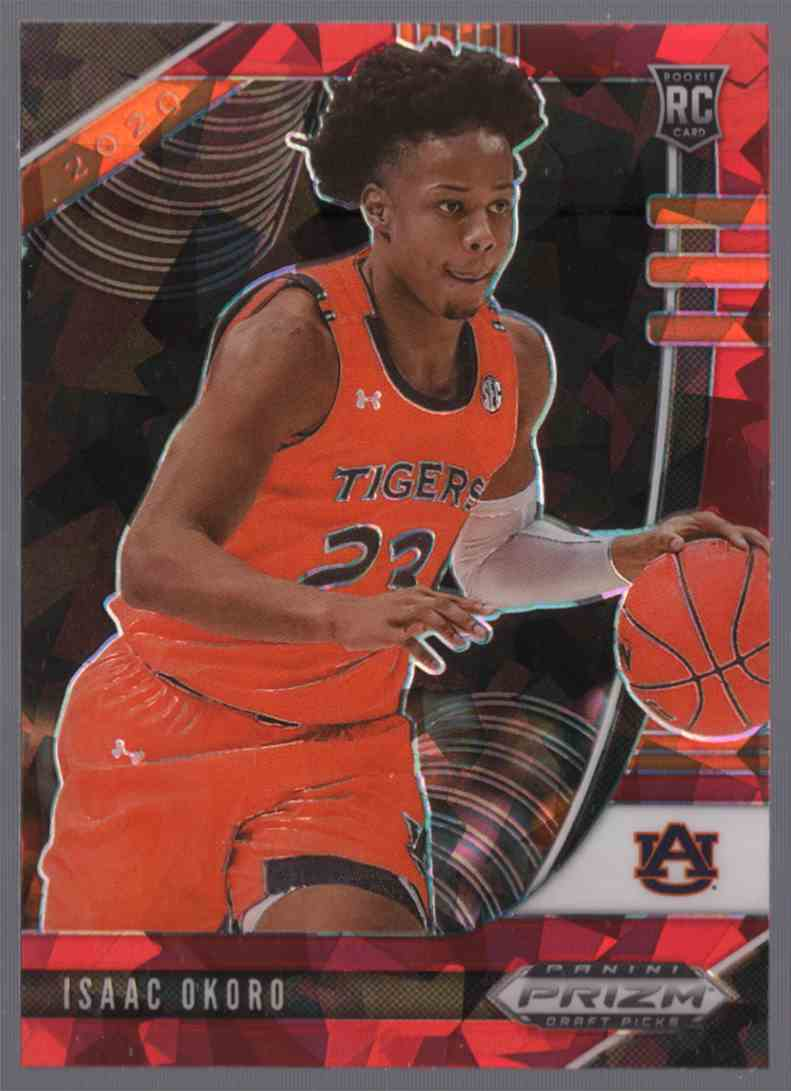 2020-21 Panini Prizm Draft Picks Prizms Red Ice Isaac Okoro #4 card front image