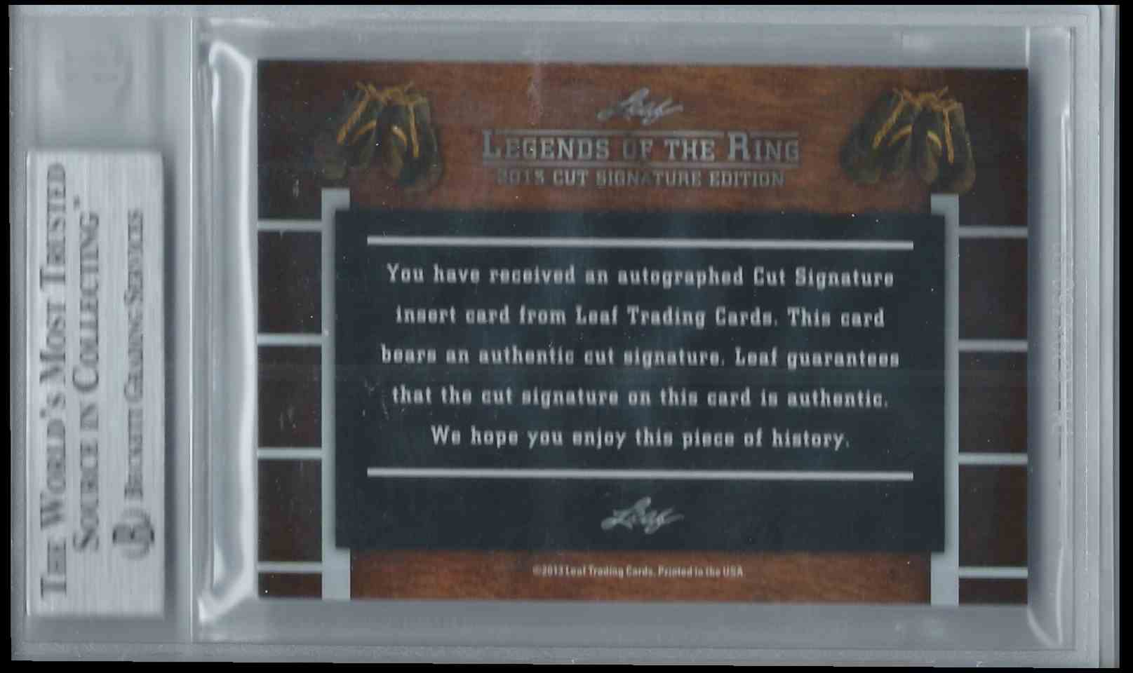 2013 Leaf Legends Of The Ring Cut Signature Edition Boxing Hall Of Fame Ralph Dupes #CUTRD card back image