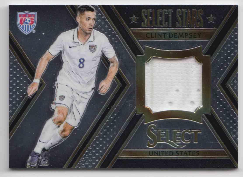 2015 Panini Select Stars Memorabilia Clint Dempsey #ST-CD card front image