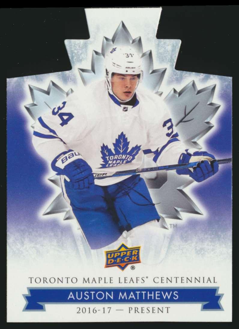 2017-18 UD Maple Leafs Centennial Die Cut Auston Matthews #11 card front image