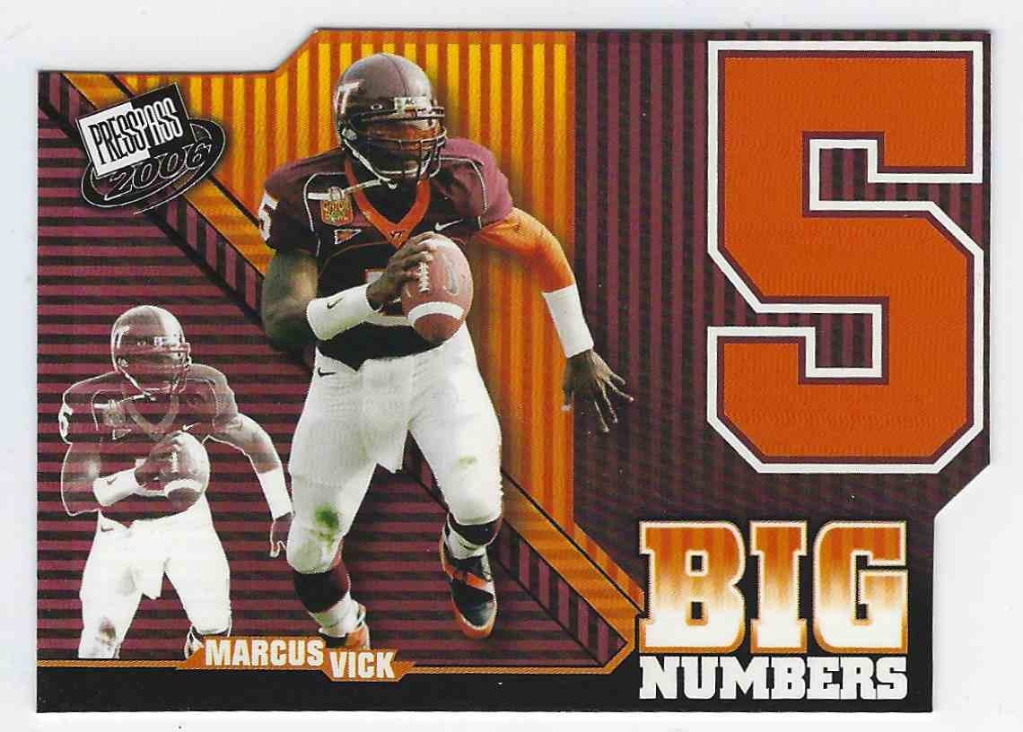 2006 Press Pass Big Numbers Marcus Vick #BN31 card front image