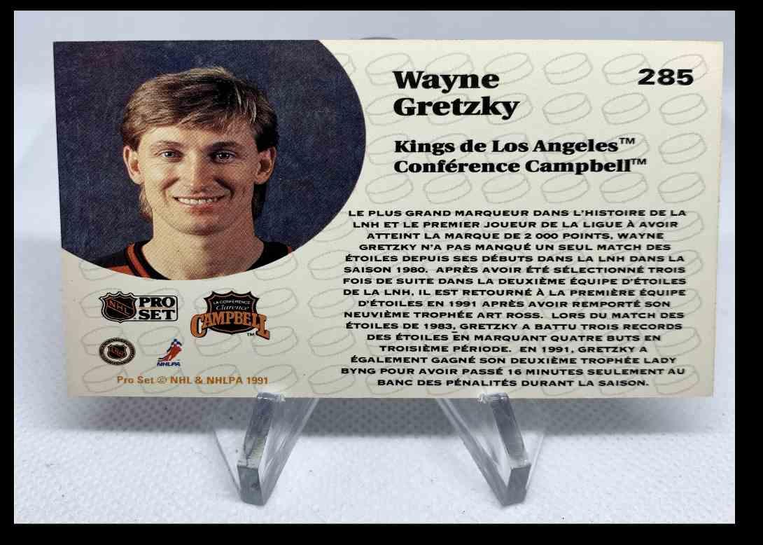 1991-92 Pro Set Wayne Gretzky #285 card back image