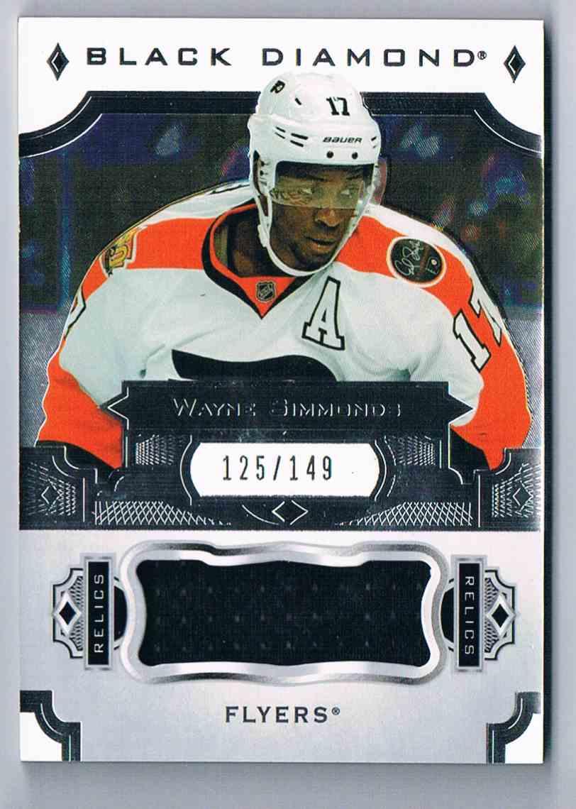 ba93b660131 2017-18 Upper Deck Black Diamond Relics Wayne Simmonds #BDB-WS card front