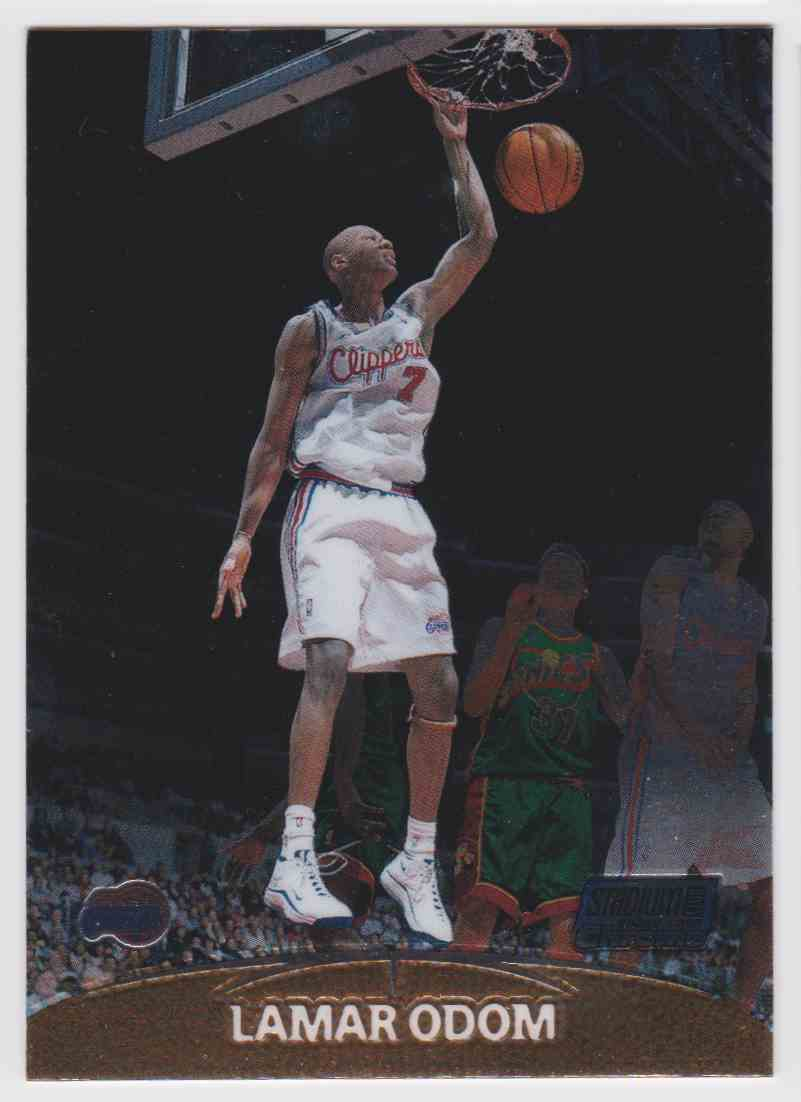 960d1954b3d0 1999-00 Stadium Club Chrome Lamar Odom  135 card front image