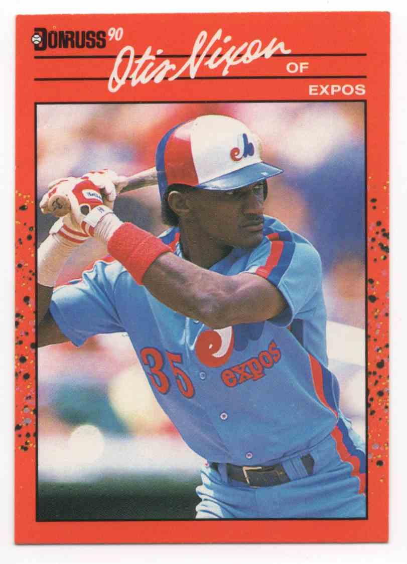 1990 Donruss Otis Nixon #456 card front image