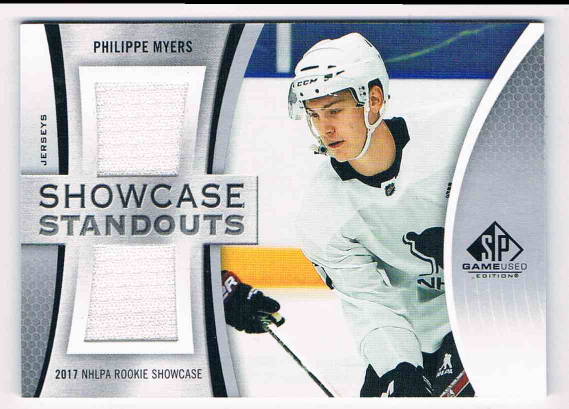2019-20 SP Game Used Showcase Standouts Phillippe Myers #SS-PM card front image