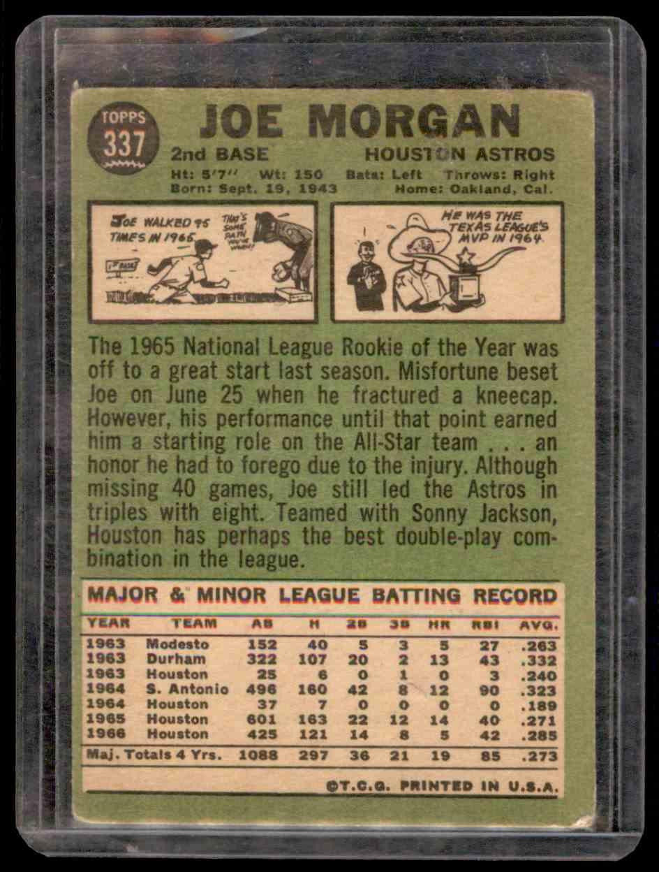 1967 Topps Joe Morgan #337 card back image