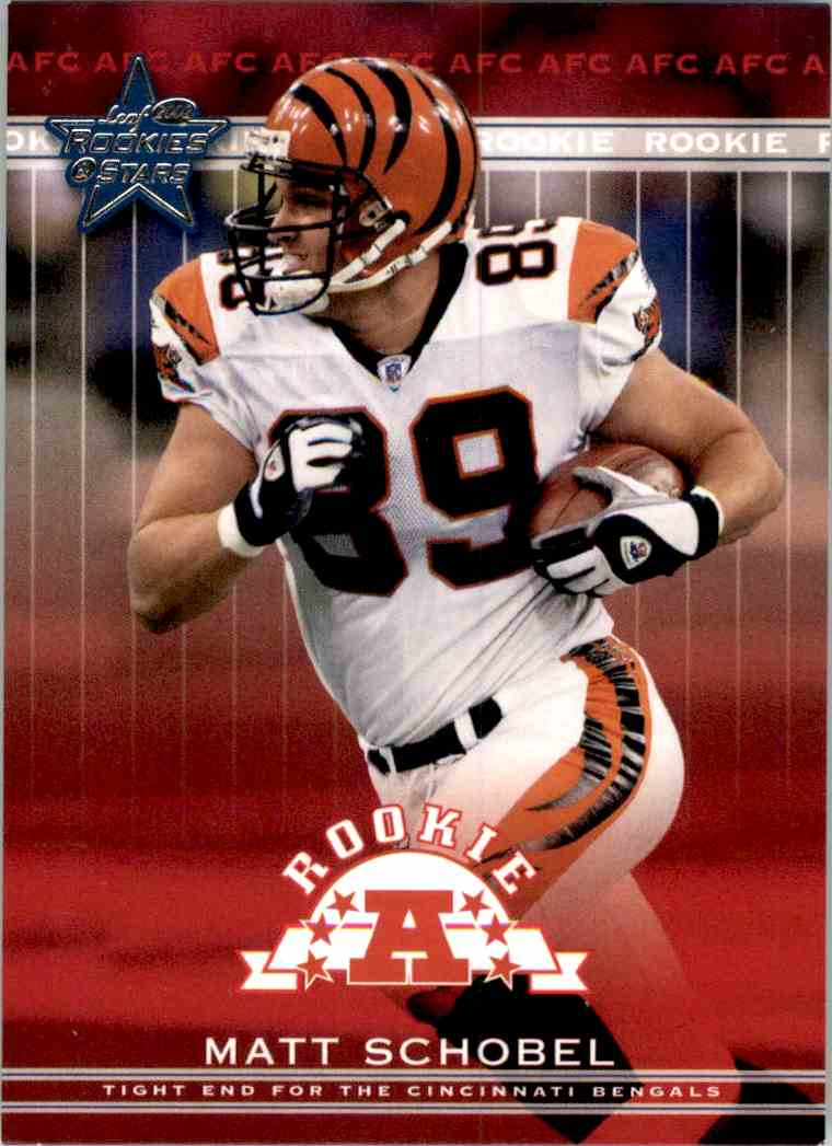 2002 Leaf Rookies And Stars Matt Schobel RC #206 card front image