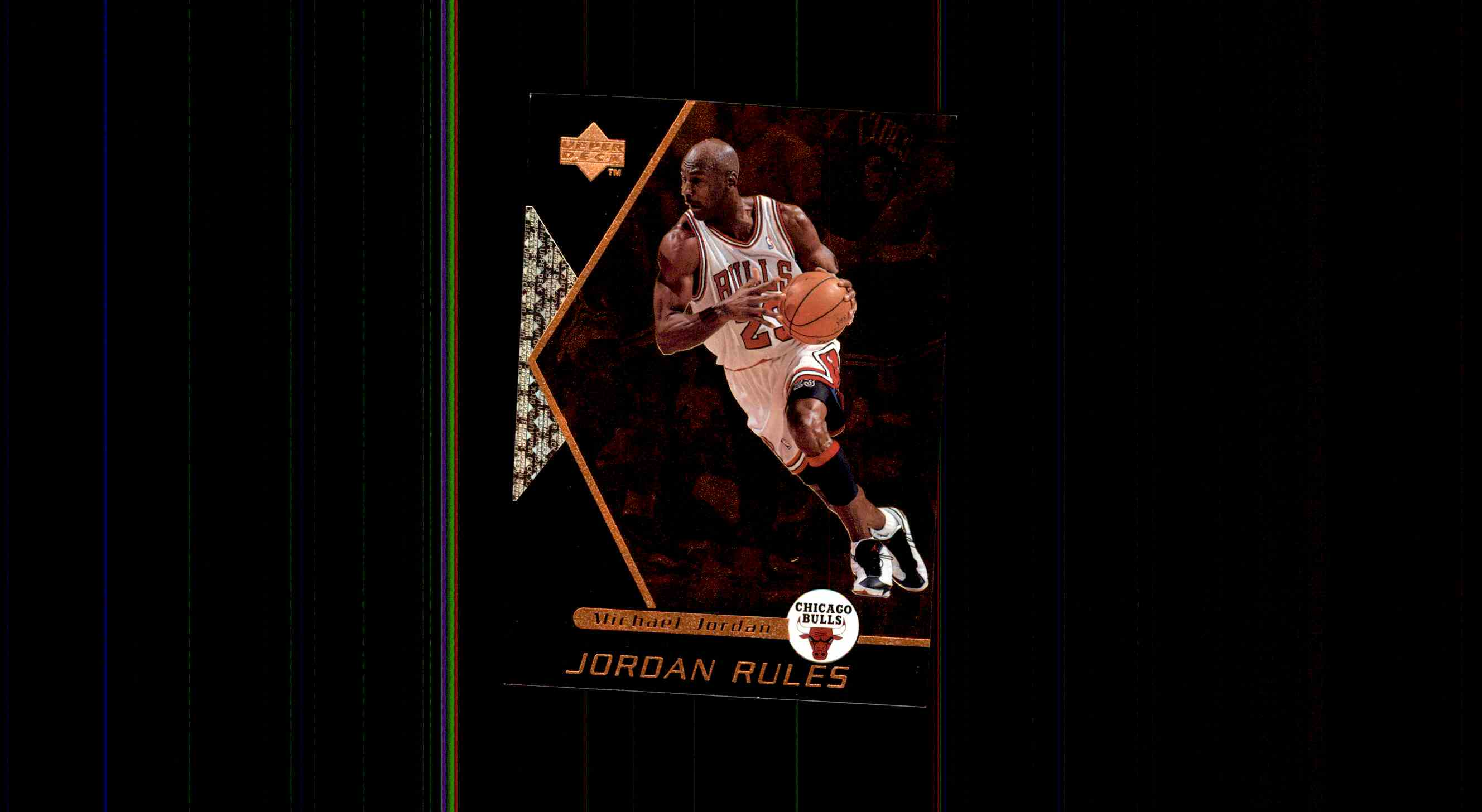 1998 99 Upper Deck Ovation Jordan Rules Michael J5 Card Front Image
