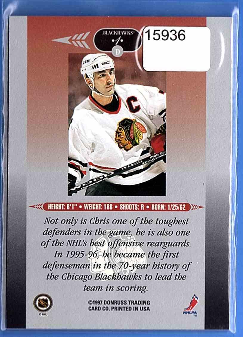 1996-97 Leaf Limited Chris Chelios #1 card back image