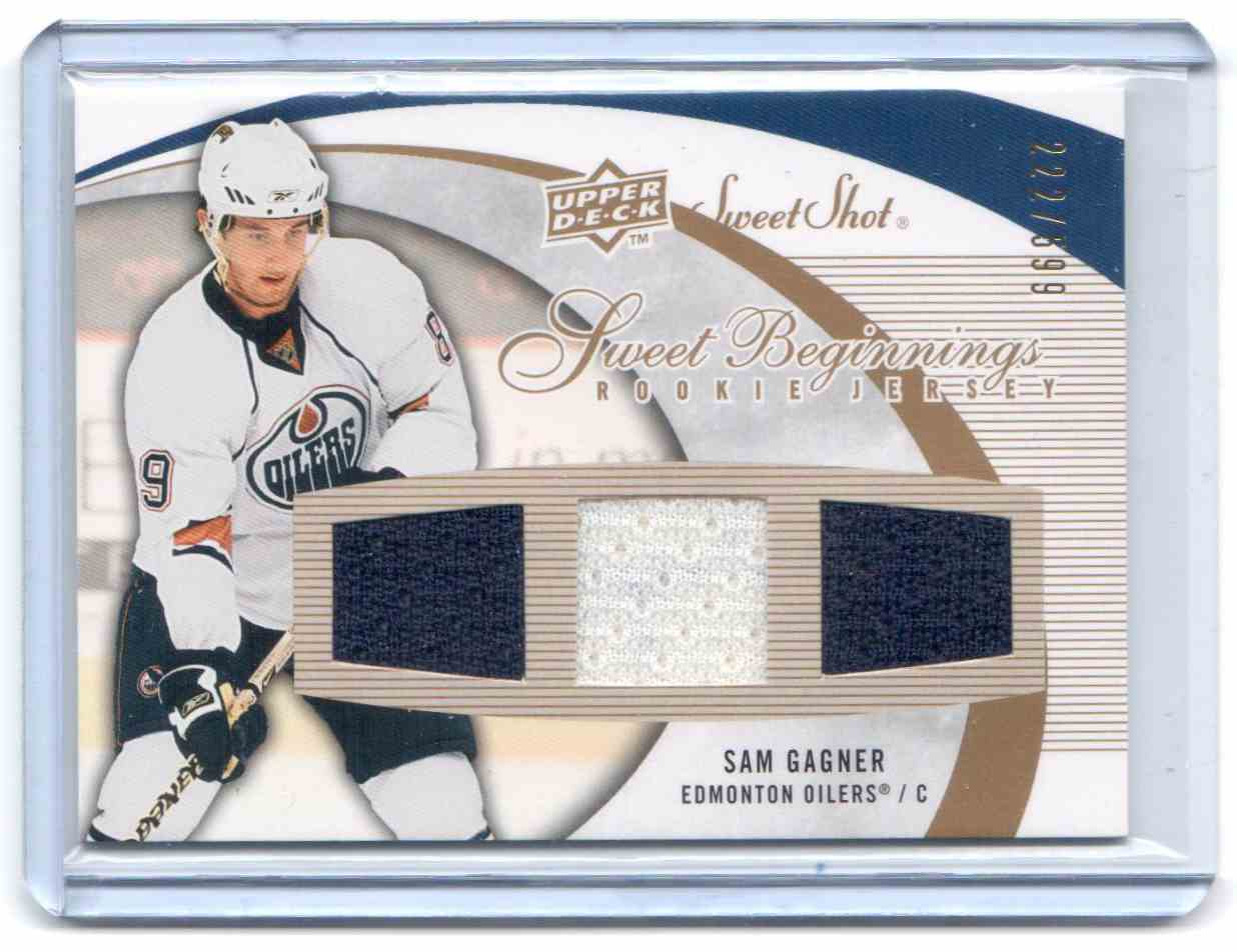 2007-08 Upper Deck Sweet Shot Sam Gagner #103 card front image