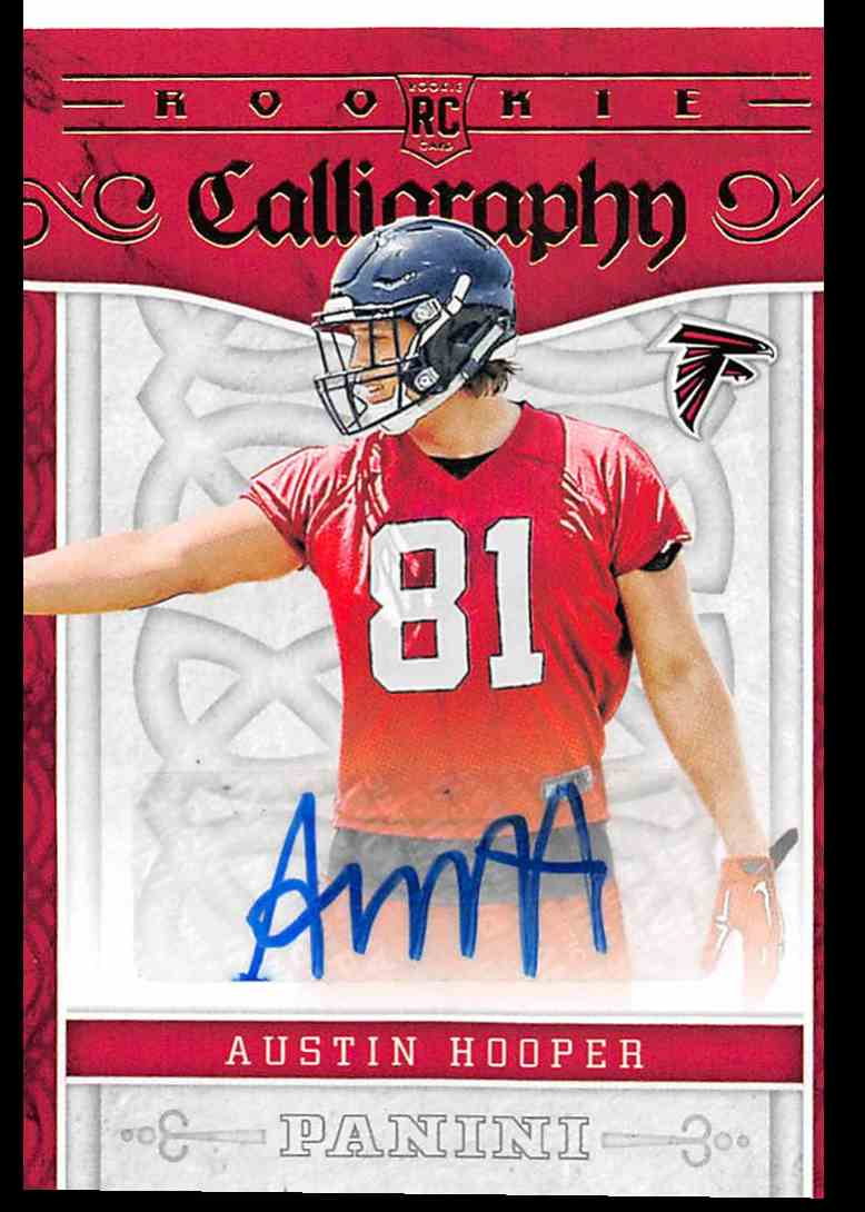 2016 Panini Rookie Calligraphy Austin Hooper #5 card front image