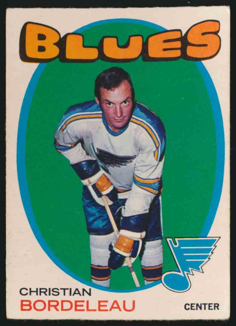 1971-72 O-Pee-Chee Christian Bordeleau #51 card front image