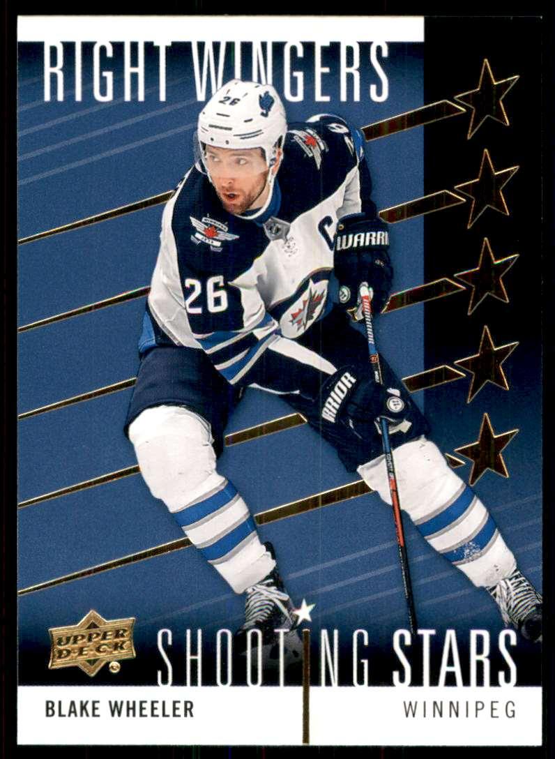 2019-20 Upper Deck Shooting Stars Right Wingers Blake Wheeler #SSR10 card front image