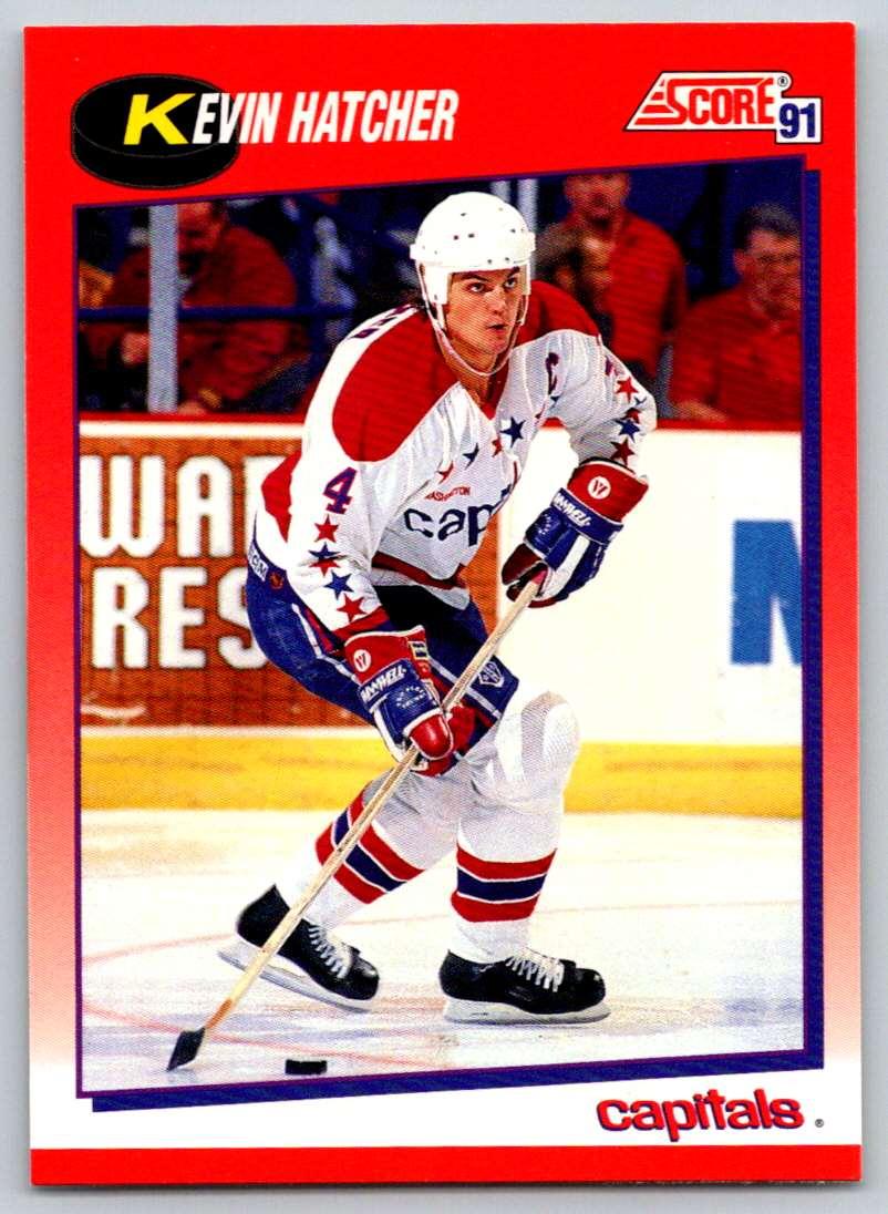 1991-92 Score Canadian Bilingual Kevin Hatcher #20 card front image