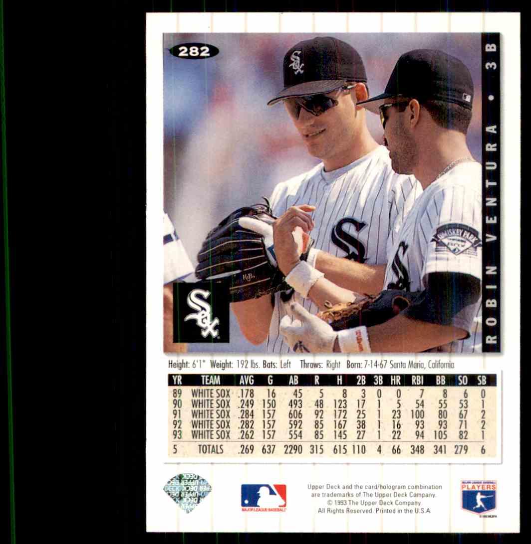 1994 Upper Deck Collectors Choice Robin Ventura 282 On Kronozio