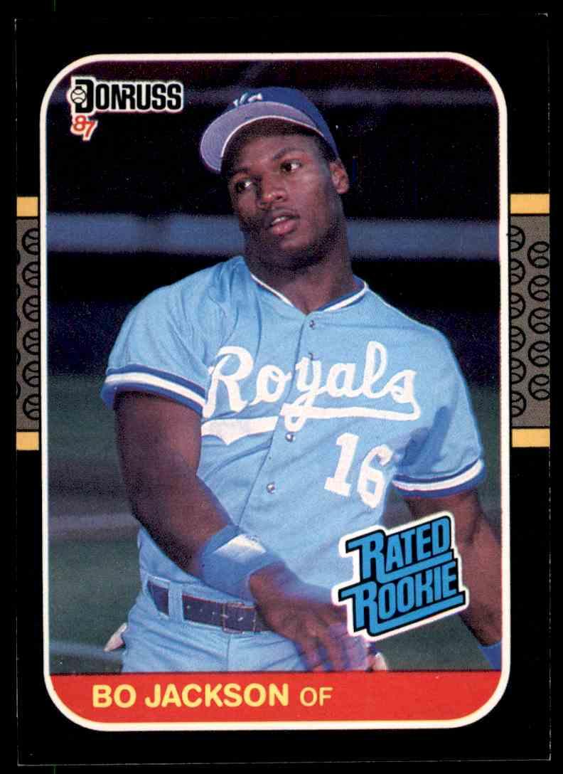 1987 Donruss Rated Rookie Bo Jackson On Kronozio
