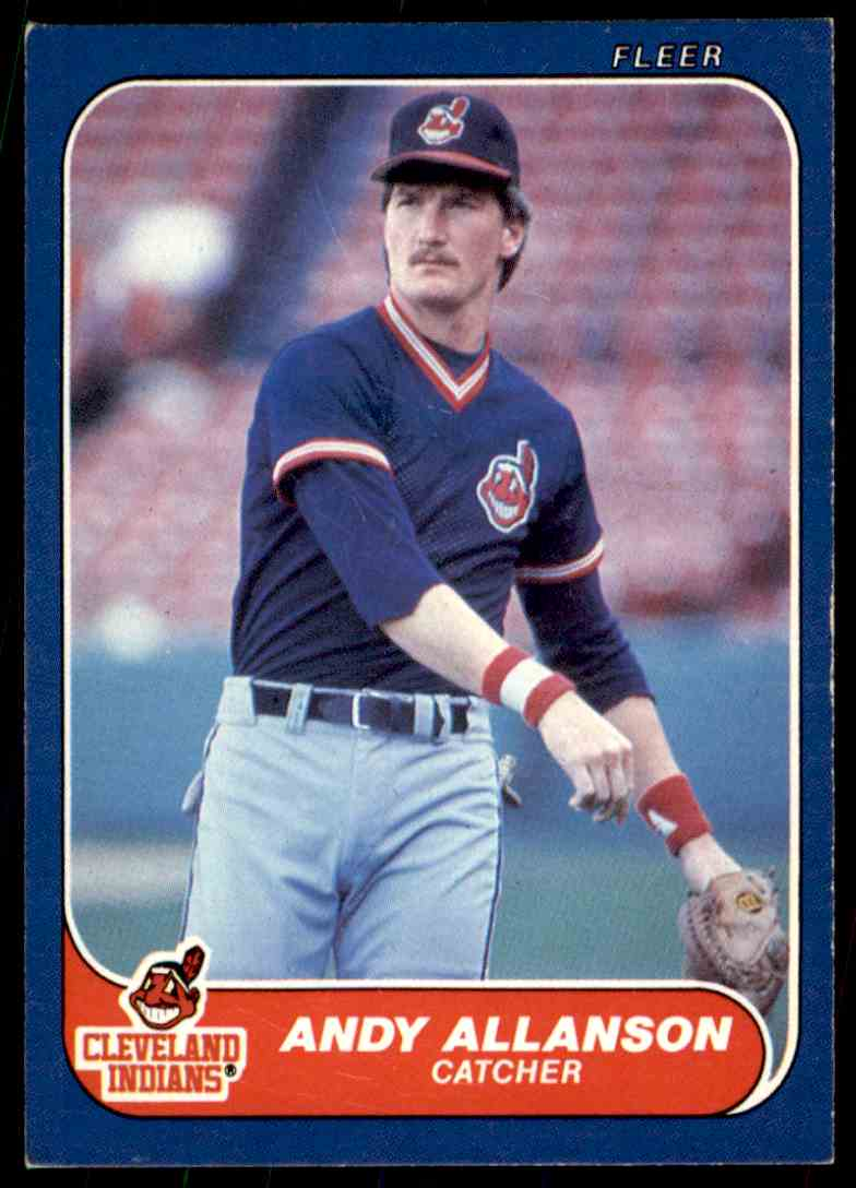 1986 Fleer Update Andy Allanson #U-2 card front image