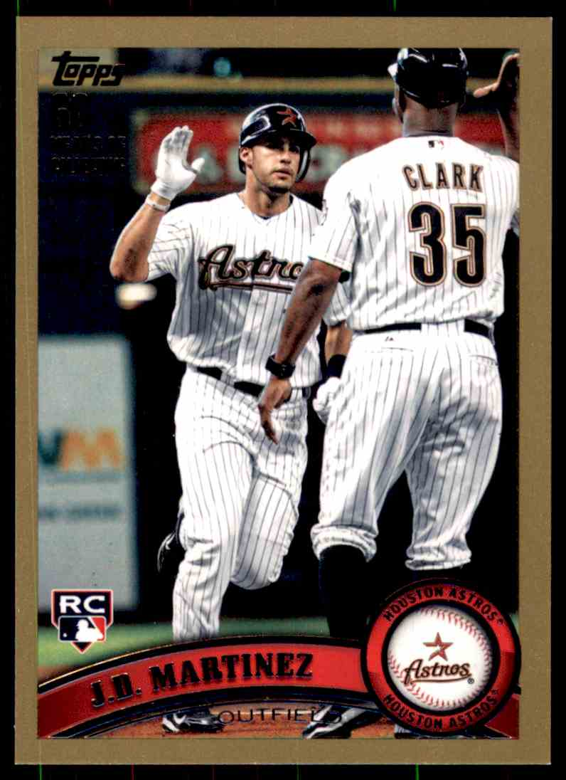 2011 Topps Update Gold J.D. Martinez #US186 card front image