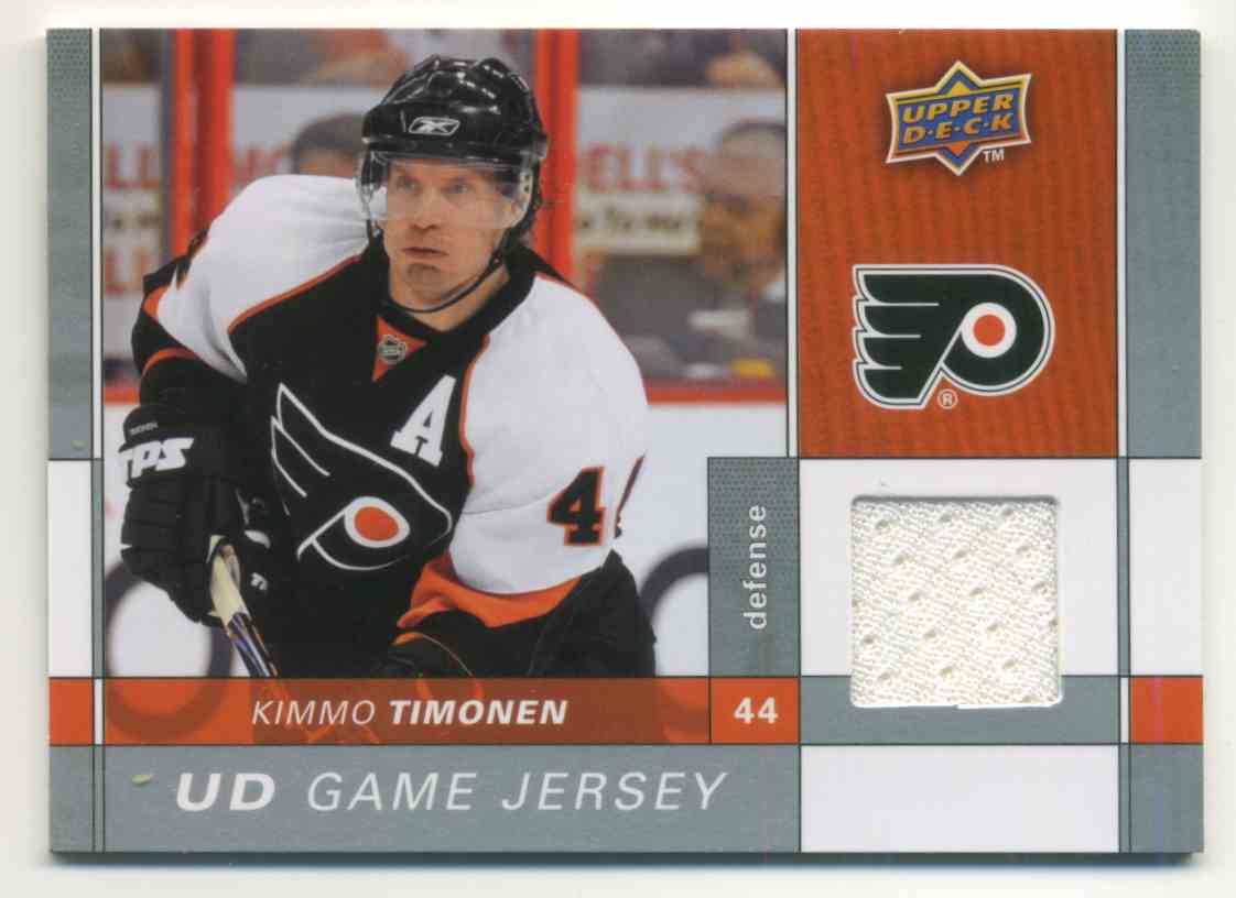2009-10 Upper Deck Game Jersey Kimmo Timonen #GJ-KT card front image