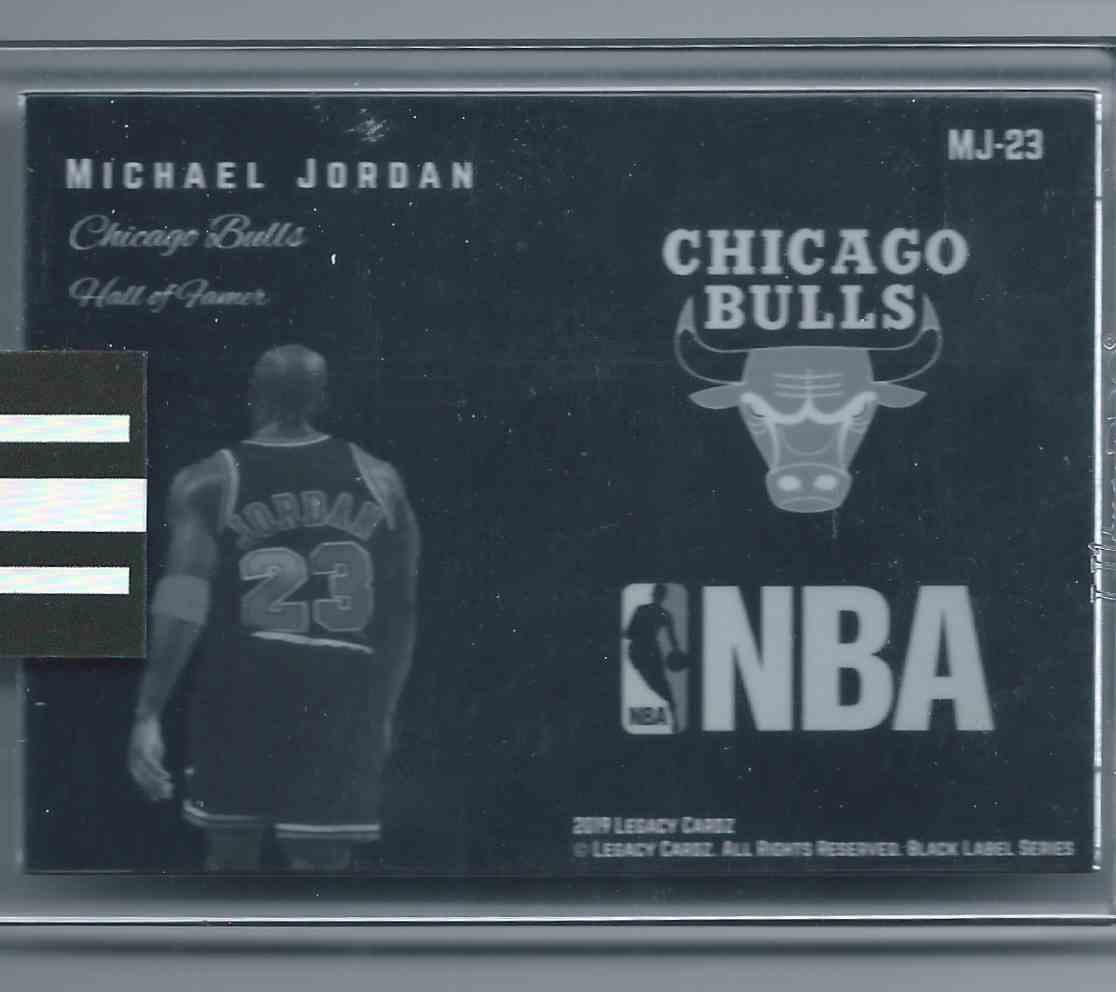 2019-20 Legacy Cardz Black Label Black Label Uncirculated Michael Jordan #MJ-23 card back image