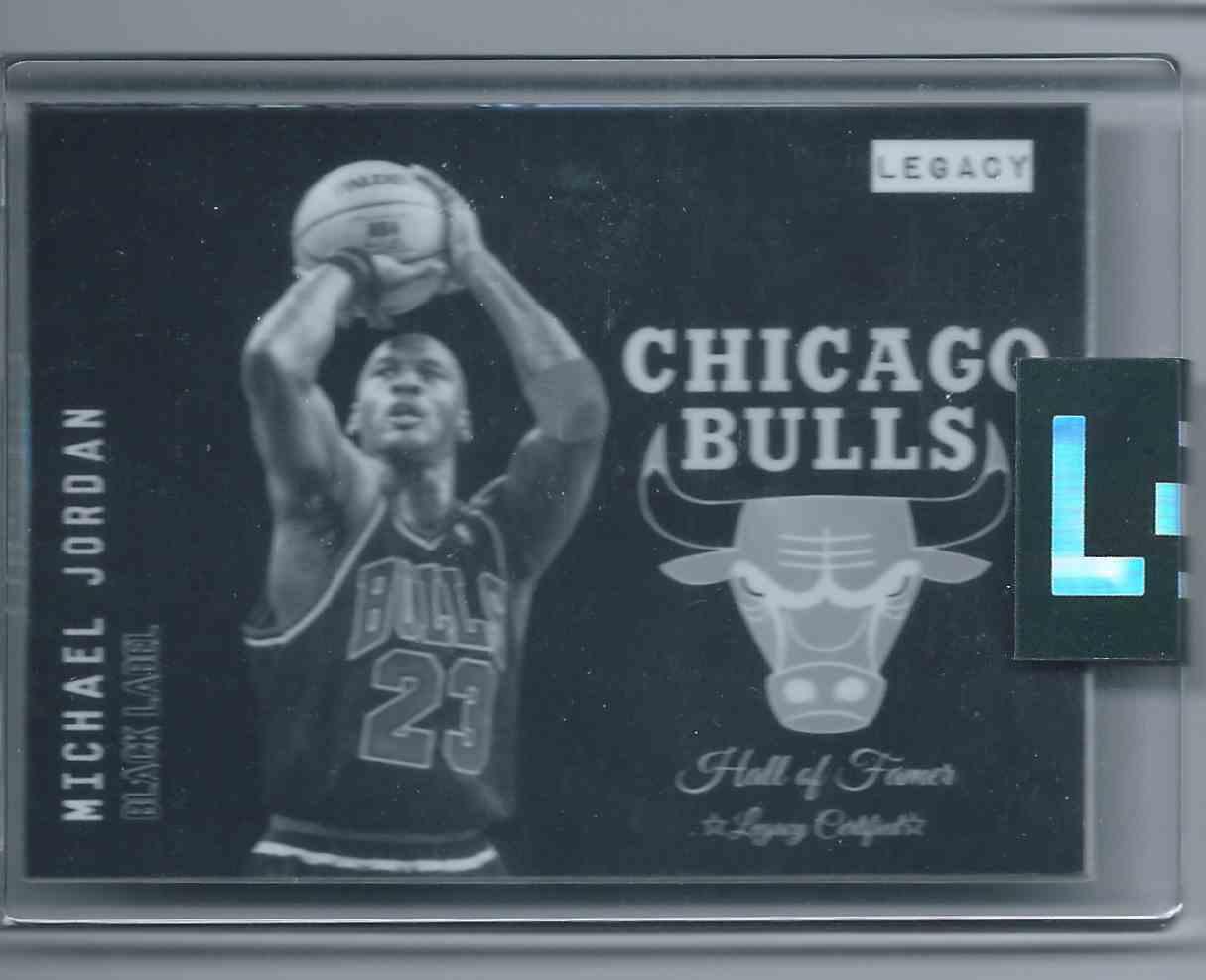 2019-20 Legacy Cardz Black Label Black Label Uncirculated Michael Jordan #MJ-23 card front image