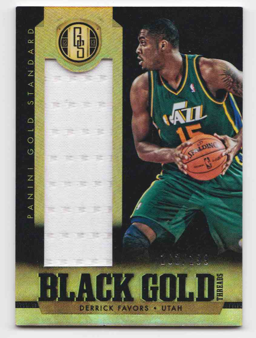 2012-13 Panini Gold Standard Black Gold Derrick Favors #89 card front image