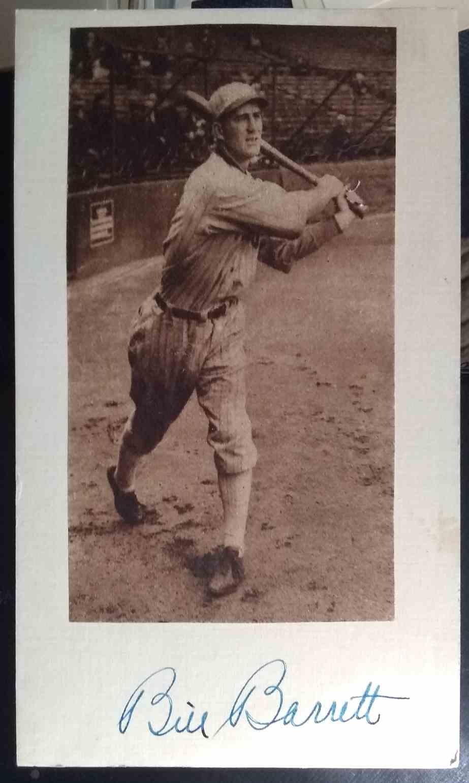 1921 3X5 Bill Barrett card back image