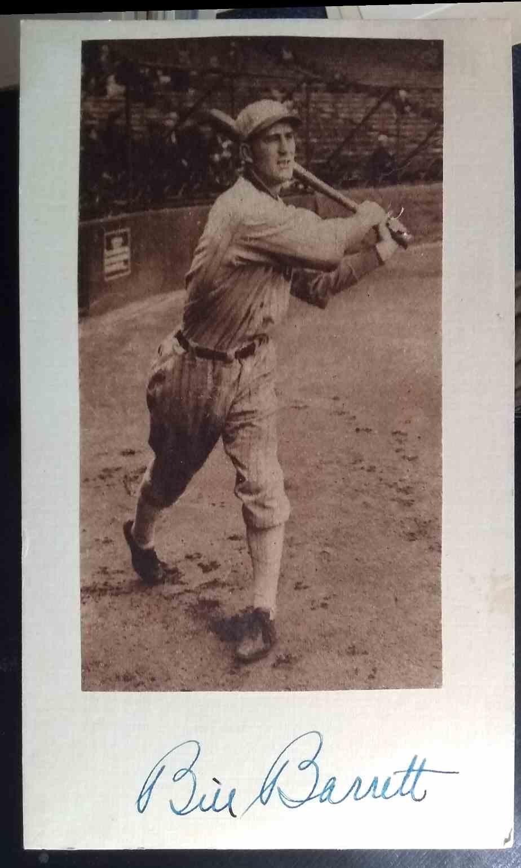 1921 3X5 Bill Barrett card front image