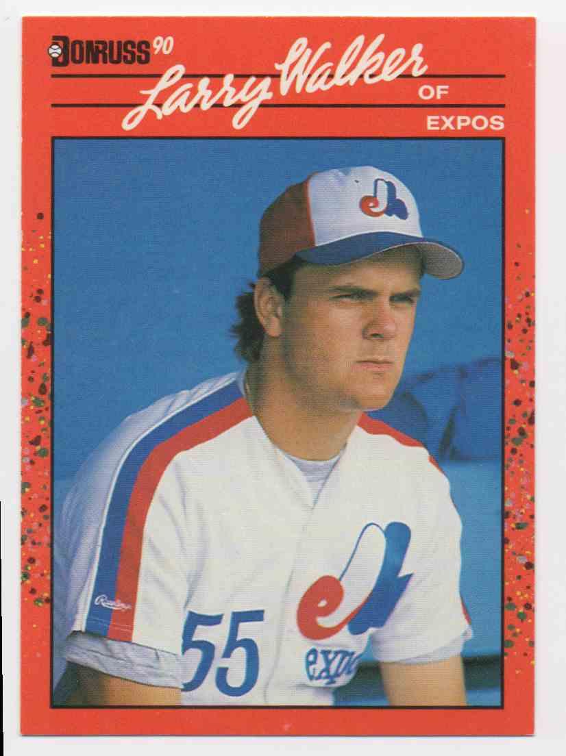 1990 Donruss Larry Walker #578 card front image