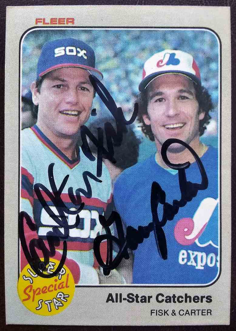 1983 Fleer Carlton Fisk Gary Carter #638 card front image