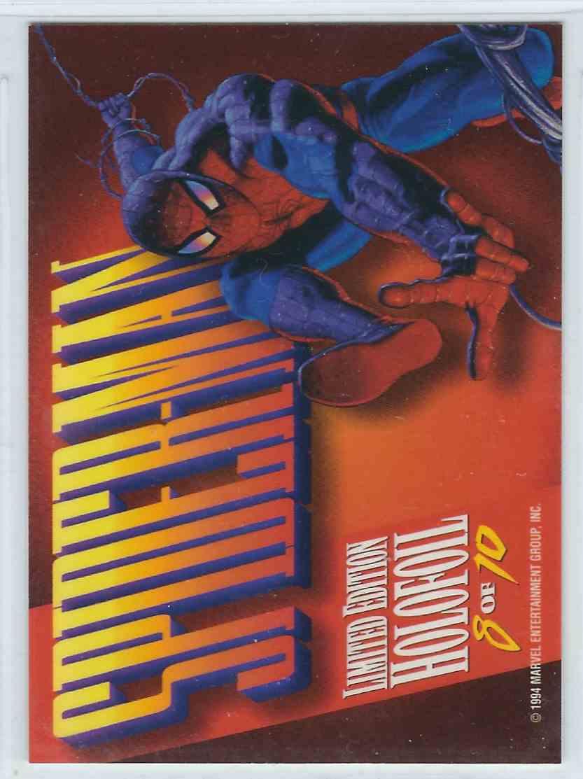 1994 Fleer Masterpieces Holofoil Spider-Man #8 card back image
